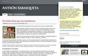 Blog personal de los últimos artículos de Antxón Sarasqueta