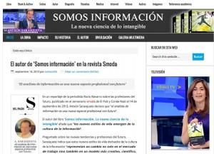 La web del último libro de Antxón Sarasqueta 'Somos información. La nueva ciencia de lo intangible'