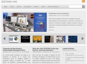 La web del MODELO VAC ® de información creado por Antxón Sarasqueta