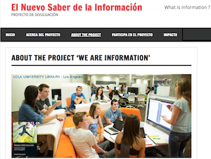 Enlace con la web del proyecto 'El Nuevo Saber de la Información'